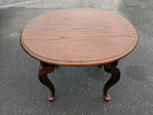 Ethan Allen Canterbury Oak Oval End Table Style #28-8414