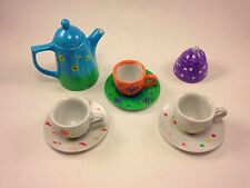 Funky Children's Doll Size Tea Party Set 5 pc. Miniature