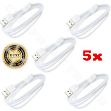 5x Micro USB Charger Data Sync Cable Braided Cord For Samsung Android LG WHITE