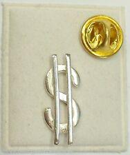 Spilla da giacca con il simbolo del DOLLARO in ARGENTO 925 - pins -