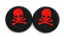 2 RED Skull Bones Silicone Thumb Stick Grips for XBOX ONE / 360, PS3 and PS4