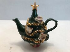 "Royal Albert ""Old Country Roses"" Christmas Tree Teapot Made in England"