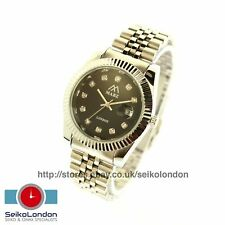 Mabz Datejust Gents Black Dial, Silver Finish Watch