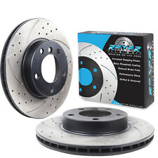 NEW FRONT DRILLED GROOVED 286mm BRAKE DISCS FOR BMW E36 E46 Z3 E85 323 328 320d