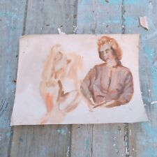 Eleanor Hill Listed Artist Double Sided Acrylic On Canvas Unsigned Free Shipping