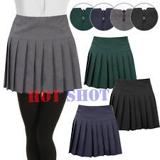 Womens Ladies Young Adults Girls Pleated Back Zip School Uniform Britney Skirt