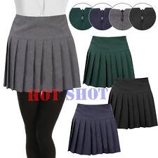 Womens Ladies Young Adults Girls Pleated Back Zip School Uniform Britney Skirt