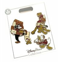 Disney Parks Tower of Terror Bellhop Goofy Pluto Donald Trading Pin Set of 3 NEW