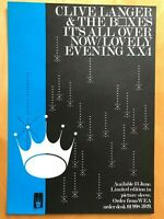 Clive Langer / Barney Bubbles  - It's all over now b/w Lovely evening 1980 flyer