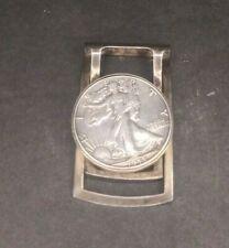 Vintage 1945 Walking Liberty U.S. Silver Half Dollar Hickok Money Clip