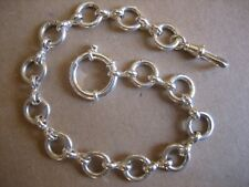 Vintage Unique  S/Silver  Pocket  Watch Chain 9.1/2in. Long