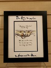 Charlie Mackesy book extract framed. The boy, the mole,the fox and the horse 10