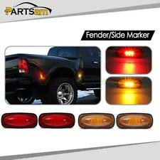 4 For 2003-2009 DODGE RAM 3500 Amber/Red Dually Bed Side Fender Marker LED Light