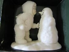 DEPT 56 SNOWBABIES WHY DON'T YOU TALK TO ME SNOWMAN ANGEL CHRISTMAS DISPLAY