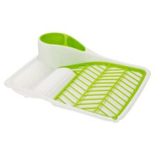 Plastic Dish Drainer Plates Cups Utensil Cutlery Holder Kitchen Sink Drying Rack