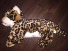 Nanu Nana Tiger Leopard Katze 38 cm Stofftier Kuscheltier Plüschtier Braun Weiß