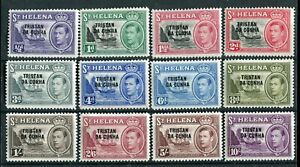 Tristan da Cunha KGVI 1952 set of 12 SG1/12 MNH
