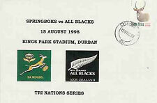 SOUTH AFRICA 15.8.98 RUGBY COMMEMORATIVE COVER - South Africa v New Zealand