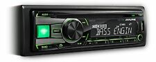 Alpine CDE-181R Car CD Player with MP3 USB with iPod Control Front Aux In GREEN