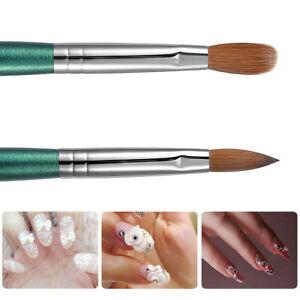 Wood Handle Kolinsky Acrylic Nail Art Brush Manicure Powder Professional Tools