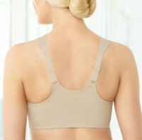 Hurry! LIMITED! NEW-Sealed GLAMORISE Bra Front-Close (WIDE-STRAPS) Nude T-Back