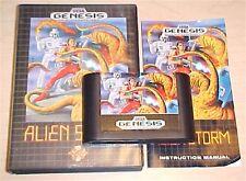 Alien Storm Sega Genesis game cartridge Complete In original box with manual