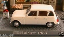 RENAULT 4 SUPER 1963 UNIVERSAL HOBBIES 1/43 BLANCHE NEW M6 COLLECTIONS R4 WHITE