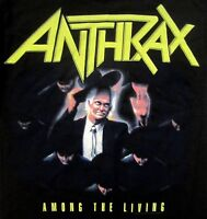 ANTHRAX cd cvr AMONG THE LIVING Official SHIRT NEW nbp S-2XL
