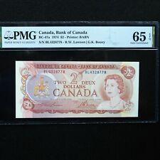 1974 Canada, Bank of Canada $2, BC-47a, PMG 65 EPQ Gem Unc.