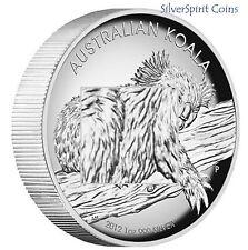 2012 KOALA HIGH RELIEF 1oz Silver Proof Coin