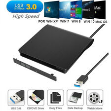 External USB3.0 DVD RW CD Writer Drive Burner Reader Player For Laptop PC Slim S