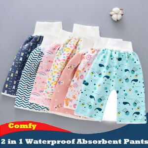 2 in1 Comfy Baby Diaper Skirt Shorts Toddler Absorbent Pants Waterproof AU