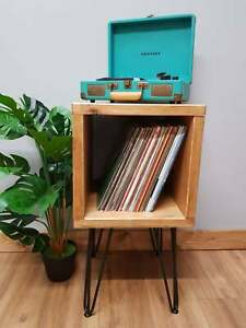 Industrial Vinyl Record Player Storage Stand Hairpin Legs - Media Unit
