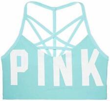 Victoria's Secret Pink Ultimate Cage Front Sport Bra Color Blue Large NWT