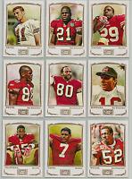 2009 Topps Mayo San Francisco 49ers Team Set 10 Cards Joe Montana Jerry Rice ++