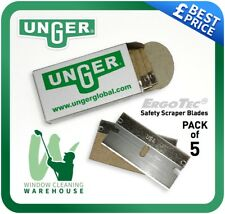 Unger Ergo Tec Safety Scraper Replacement Blades Fits SR04K SR50K Pack of 5