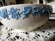 WEDGWOOD QUEENS WARE EMBOSSED LARGE SERVING BOWLS**LAVENDER ON CREAM**