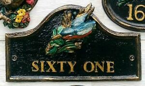 Handmade Kingfisher House/Wall Plaque - Fits Any Name/Number