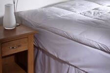 Goose Feather and 40 Down Mattress Topper White - Double Bed Size