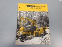 Rare Pettibone S-24 Log Slasher Sales Brochure