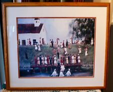 Framed Print Of A Baptism Some Somewhere In The Southern United States
