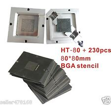 1PC BGA Chips Repairs Kit 80x80mm Reballing Station JIG BGA jig + 230pcs Stencil