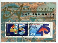 UN Geneva 1990 45 anniv minisheet fine used