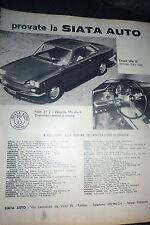 ADVERTISING PUBBLICITA'  FIAT 1500 TS  SIATA  -  1963