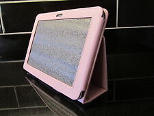 "Pink PU Leather Carry Case/Cover/Wallet Stand for Samsung Galaxy Tab 8.9"" P7300"