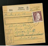 1944 Germany Moschin Parcel Cover to Drutte Concentration Camp KZ