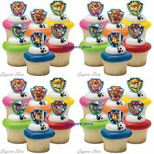 Paw Patrol 23 Cupcake Rings Birthday Party Favors,Prizes Bag Fillers Decorations