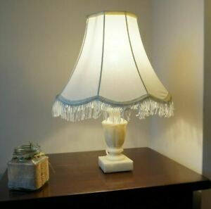 Alabaster Table Lamp - 410mm - VG Shade - Home House Warming  Retro Gift
