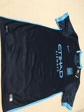 New Blue Black Manchester City jersey XL Short Sleeve W Tags Champions EPL