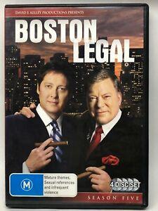 Boston Legal - Season Five - 4 DVD Set - AusPost with Tracking